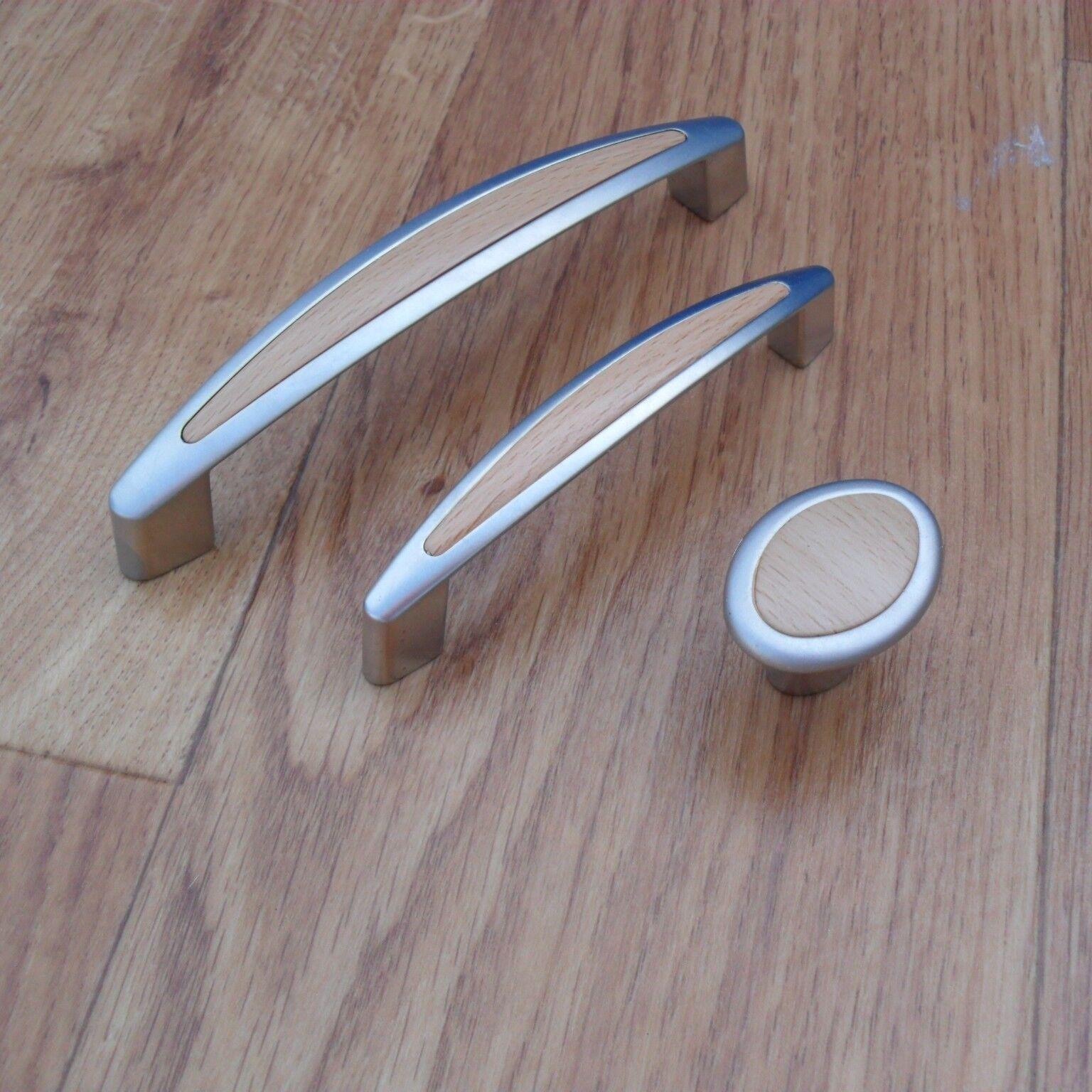 Möbelgriff Holz Buche Möbelgriffe Ø 16 Bügelgriffe