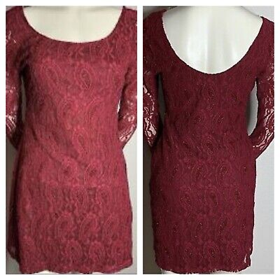 NWT Liberty Love Lace Dress, Red Wine Color, Size XL. Great for the holidays!!!