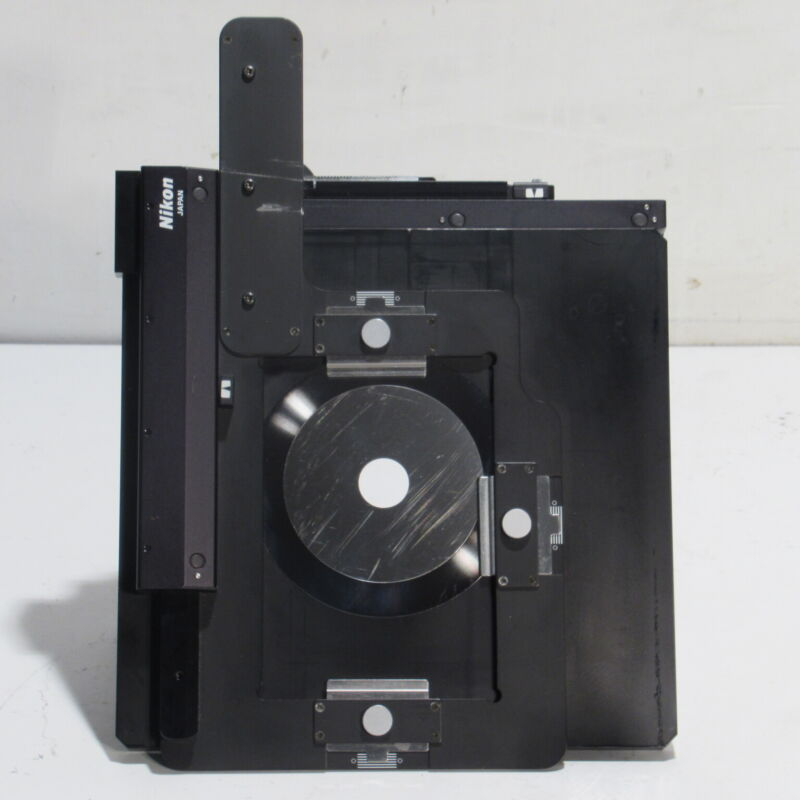 NIKON RIGHT HANDED MECHANICAL STAGE W SPECIMEN MOUNT FOR TMD DIAPHOT MICROSCOPES