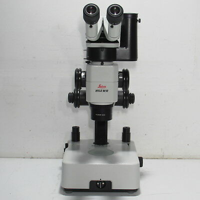 Leica Wild M10 Stereo Zoom Microscope W Photo Tube Plan Apo 0.63x Light Stand