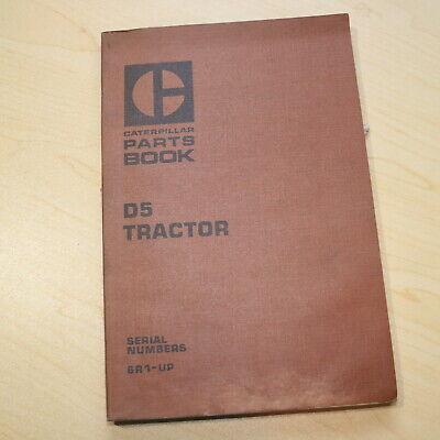 Cat Caterpillar D5 Tractor Dozer Crawler Parts Manual Book Catalog 6r Series Oem