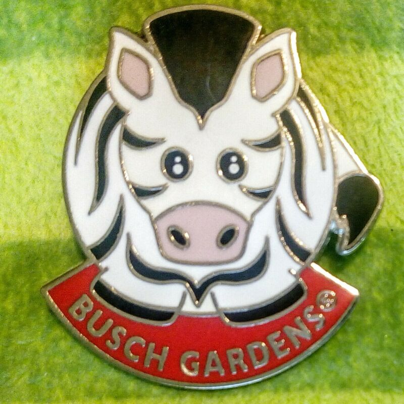 Busch Gardens Tampa Rare Retired ZEBRA Pin