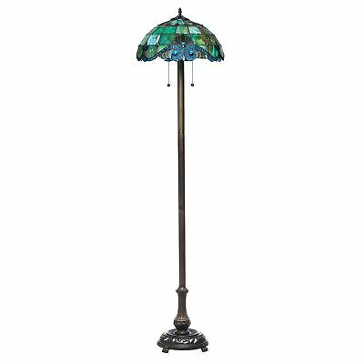 Tiffany Style Handcrafted Pearl Vintage Floor Lamp 18