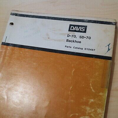 Case Davis D70 Sd70 Loader Backhoe Parts Manual Book Attachment List Catalog