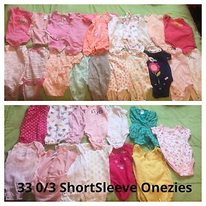 Baby Girl 0-3M Clothes Lot