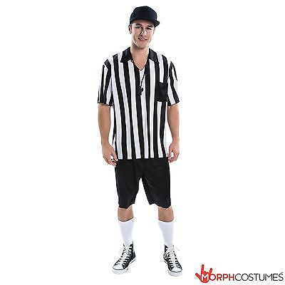 Mens Fooball Referee Fancy Dress Costume Soccer Footballer Outfit inc Whistle  sc 1 st  BayShop.com & Mens Fooball Referee Fancy Dress Costume Soccer Footballer Outfit ...
