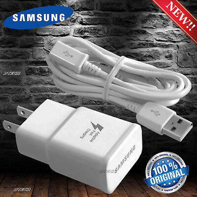 Fast Charging Charger Samsung W Cable Note 4 5 Edge S6 S7 Edge Adaptive New Oem
