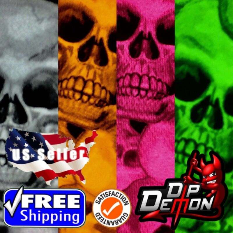 HYDROGRAPHIC FILM SKULLS LM TRUE WATER TRANSFER HYDRO DIPPING DIP DEMON