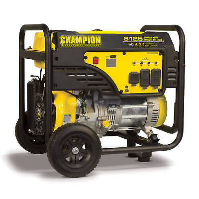 100109- 6500/8125w Champion Generator, Manual Start