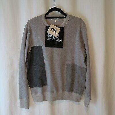 NEW Junya Watanabe Merz b. Schwanen Patchwork Cotton Sweatshirt - Grey L Large