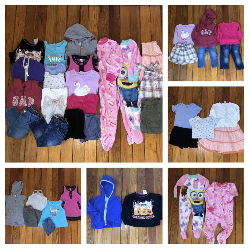 21 Ps. HUGE 18 24 2T MONTH BABY GIRLS  CLOTHING LOT  Summer Spring Winter