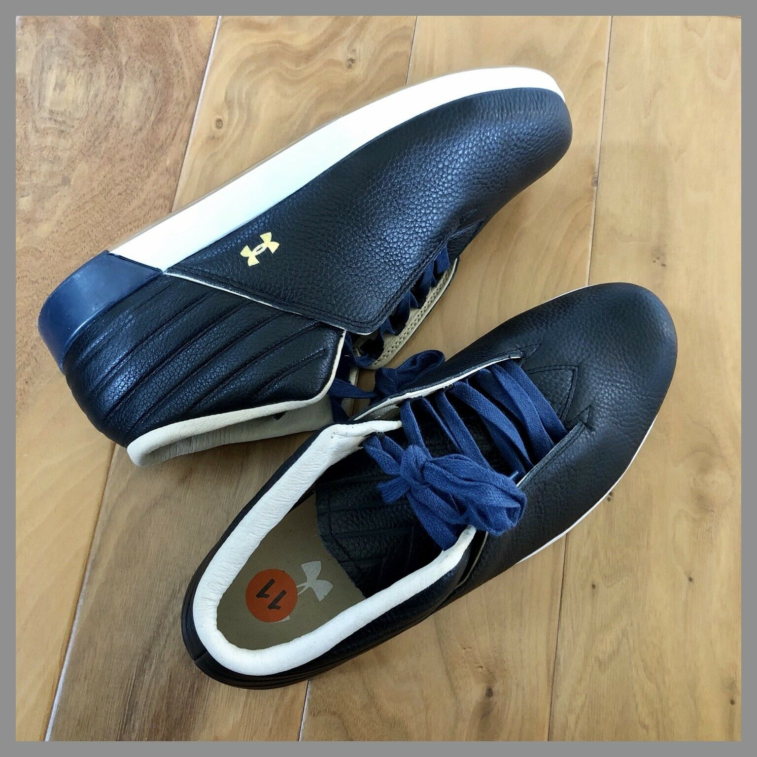 NWOB $120 Under Armour Men's Black Sportswear Leather Casual