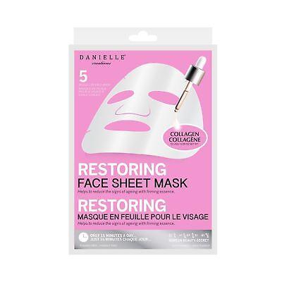 Danielle Creations Collagen Restoring Nourishing Anti-Ageing Sheet Mask - 5 Pack