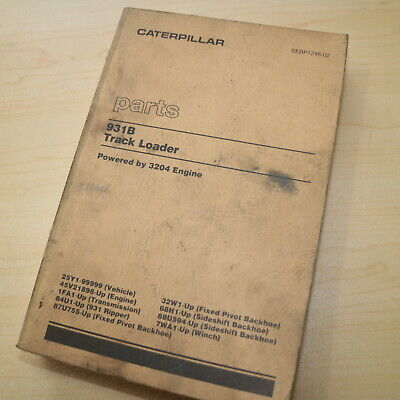 Cat Caterpillar 931b Track Loader Parts Manual Book Catalog 25y Series Crawler