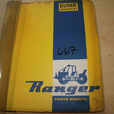 Clark Ranger 667 Wheel Log Grapple Skidder Parts Catalog Manual Book List 667c-8