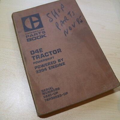 Cat Caterpillar D4e Tractor Dozer Crawler Parts Manual Book 28x Spare List 1979