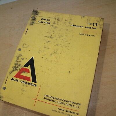 Allis Chalmers Hd11 Crawler Tractor Dozer Parts Manual Book Catalog List Spare