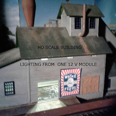 EASIEST WAY TO LIGHT YOUR  SCALE MODEL RAILROAD BUILDINGS