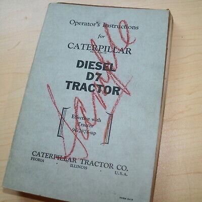 Cat Caterpillar D7 Tractor Crawler Dozer Owner Operation Operator Manual Book