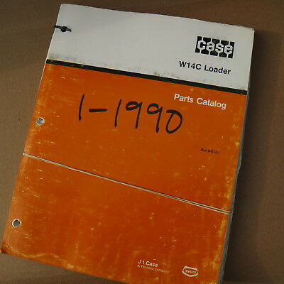Case W14c Articulated Front End Wheel Loader Spare Parts Manual Book Catalog Oem