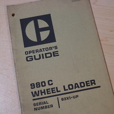 Cat Caterpillar 980c Wheel Loader Owner Operation Operator Manual Book Safety 63