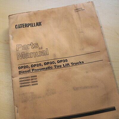 Caterpillar Dp20 Dp25 Dp30 Dp35 Diesel Engine Forklift Parts Manual Book Catalog