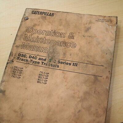 Caterpillar D3c D4c D5c Series Iii Crawler Tractor Owner Operator Manual Guide