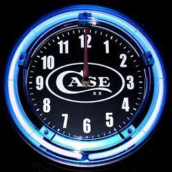 CASE XX LOGO - 11 Blue Neon Wall Clock