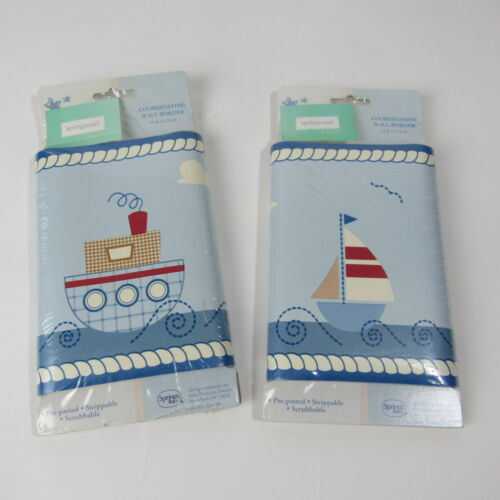 Springmaid Baby Boy Room Wall Border Child Nautical Boat Neighborhood Nursery