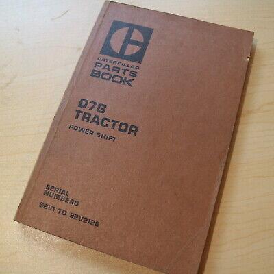 Cat Caterpillar D7g Tractor Dozer Crawler Parts Manual 92v Series Power Shift