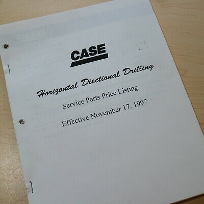 Case Horizontal Directional Drill Dealer Service Parts Price List Guide Manual