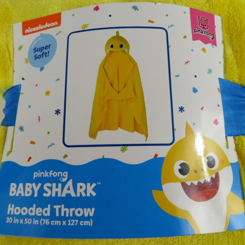 Baby Shark Hooded Throw Blanket - New