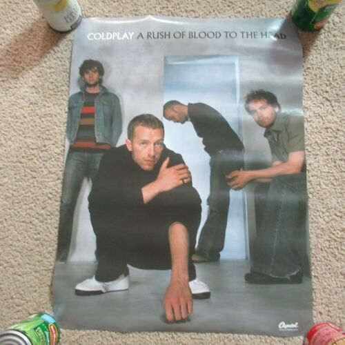 VINTAGE 2002 Coldplay Double Sided Music Poster Rock Pop Band