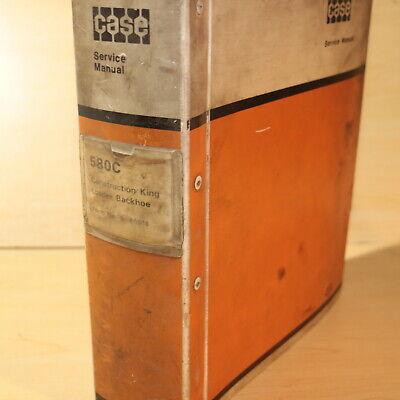 Case 580c Backhoe Loader Repair Shop Service Manual Book Guide Overhaul Owner