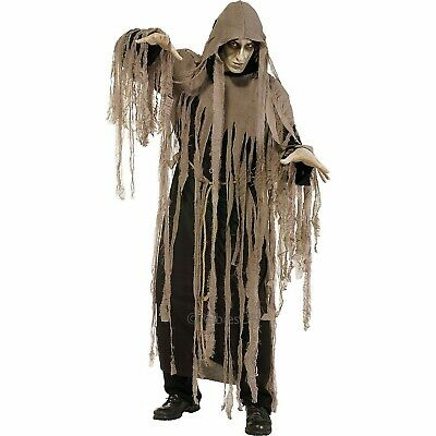 Pesadilla Zombie Ghoul Disfraz Adulto Hombres Halloween Segador Sombrío Std XL](Zombie Disfraz Halloween)