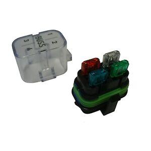waterproof sealed fuse relay panel block holder cover 12 v car truck atv ebay