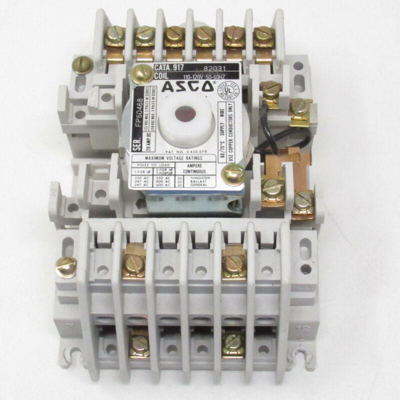 ASCO 8 Pole Lighting Contactor 120V Coil 917 82031 91782031
