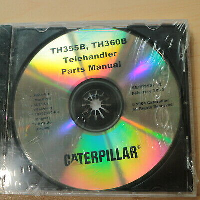Cat Caterpillar Th355b Th360b Telehandler Forklift Spare Parts Cd Manual Book