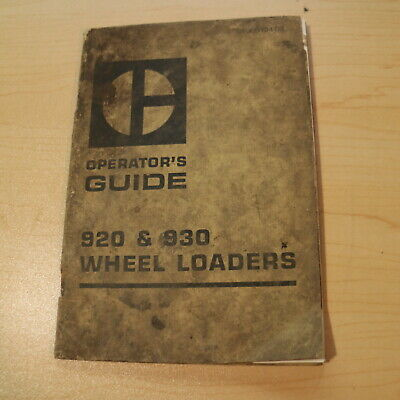Cat Caterpillar 920 930 Wheel Loader Owner Operation Operator Guide Manual Book