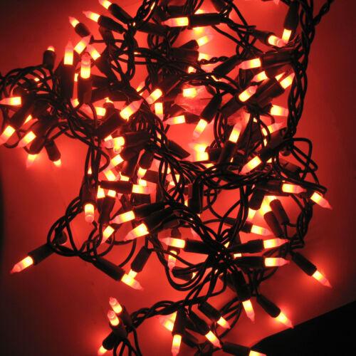Halloween Indoor Outdoor String of 160 Lights Orange 11 ft