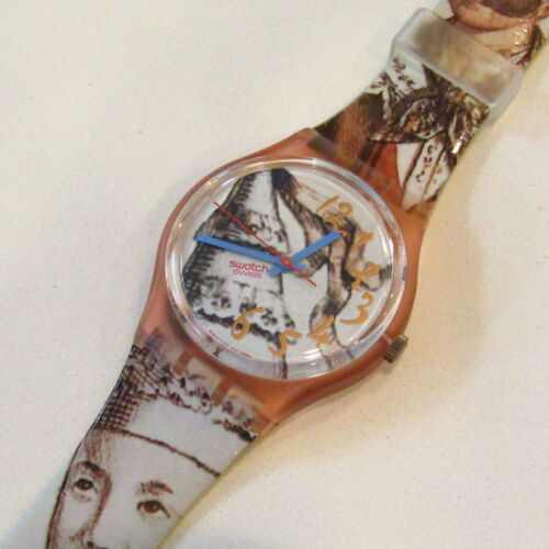 "Vintage SWATCH Watch ""Masquerade"" GP105 1993 NEW Old Stock"