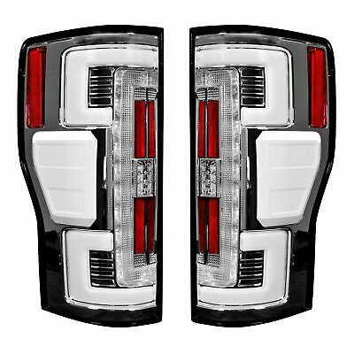 Recon Dual UBar Clear Lens OLED Tail Lights For 2017-2019 Ford Super Duty