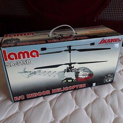 Helicóptero indoor radiocontrol Lama SA-315B modelismo coleccionismo