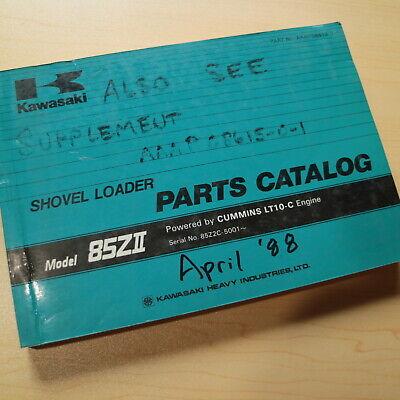 Kawasaki 85z Wheel Loader Parts Manual Book Catalog Shop Pay Oem 1988 List Spare