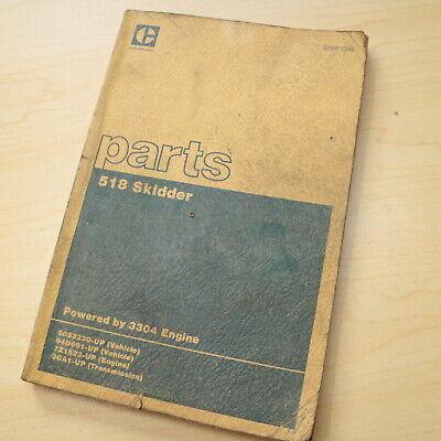 Cat Caterpillar 518 Wheel Skidder Parts Manual Book Grapple Log 50s Series List