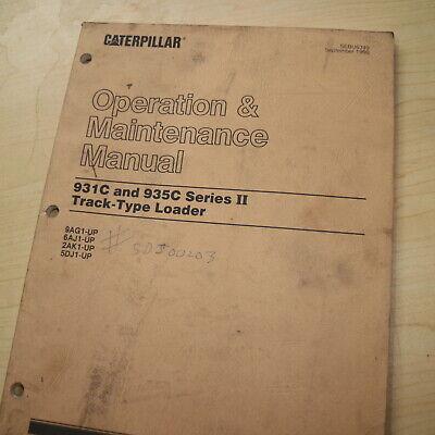 Cat Caterpillar 931c 935c Track Crawler Loader Owner Operation Operator Manual