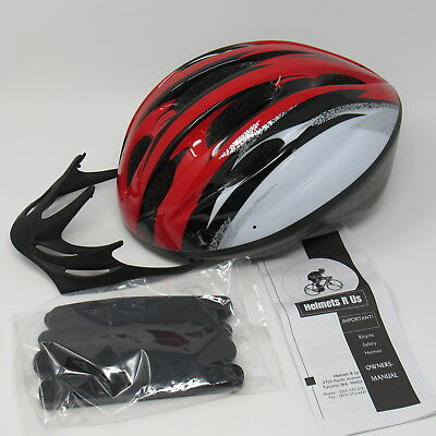 Childs Bicycle Safety Helmet Red Black White 52-57CM Size S Age 5+