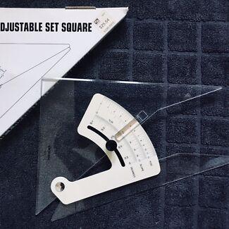 25 cm adjustable set square
