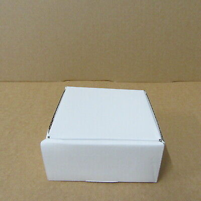25 x small white diecut postal boxes packing cardboard boxes  130 x 130 x 65mm