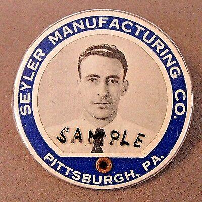 WWII 1940's SEYLER MFG. CO. PITTSBURGH PA. employee badge pinback Home Front +